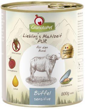 GranataPet Lieblings Mahlzeit Büffel PUR Sensitive 800g (Menge: 6 je Bestelleinheit)