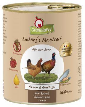 GranataPet Lieblings Mahlzeit Fasan & Geflügel 800g (Menge: 6 je Bestelleinheit)