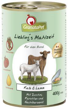 GranataPet Lieblings Mahlzeit Kalb & Lamm 400g (Menge: 6 je Bestelleinheit)