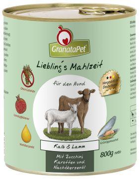 GranataPet Lieblings Mahlzeit Kalb & Lamm 800g (Menge: 6 je Bestelleinheit)
