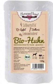 Herzenshund Bio-Huhn 130g (Menge: 15 je Bestelleinheit)