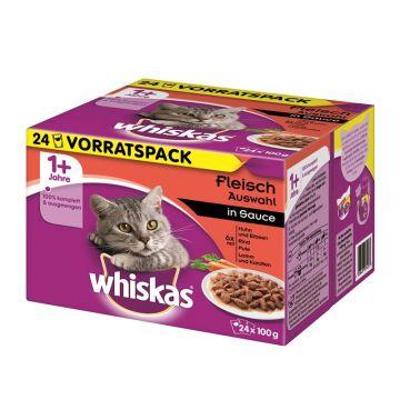 Whiskas 24er-MP Herzhaftes Ragout in Sauce 24 x 100g (Menge: 2 je Bestelleinheit)