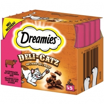Dreamies Deli Catz mit Rind 25g (Menge: 8 je Bestelleinheit)
