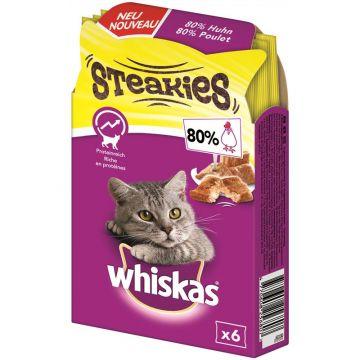 Whiskas Snack Steakies Huhn 30g (Menge: 6 je Bestelleinheit)