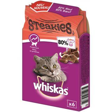 Whiskas Snack Steakies Rind 30g (Menge: 6 je Bestelleinheit)