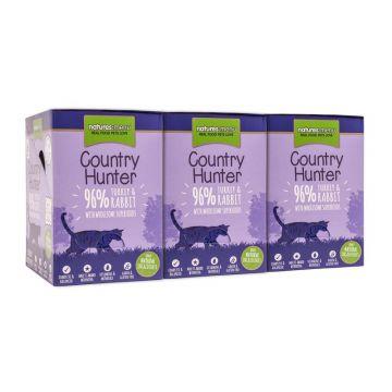 Country Hunter Cat Frischebeutel mit 96% Pute & Kaninchen 85g (Menge: 6 je Bestelleinheit)