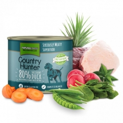 Country Hunter Dog Dose 80% Saftige Ente 600g (Menge: 6 je Bestelleinheit)