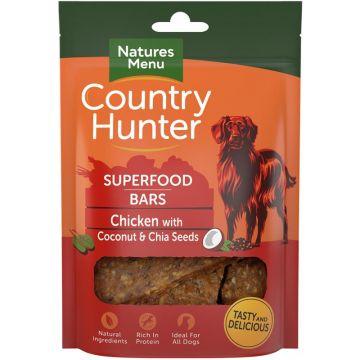 Country Hunter Dog Snack Superfood Bars Huhn mit Kokosnuss und Chiasamen 100g (Menge: 7 je Bestelleinheit)