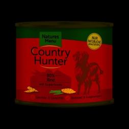 Country Hunter Dog Dose 80% Rind 600g (Menge: 6 je Bestelleinheit)