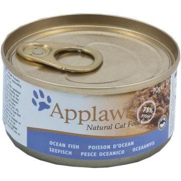 Applaws Cat Nassfutter Dose mit Seefisch 70 g (Menge: 24 je Bestelleinheit)