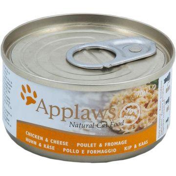 Applaws Cat Nassfutter Dose Hühnchenbrust & Käse 70 g (Menge: 24 je Bestelleinheit)