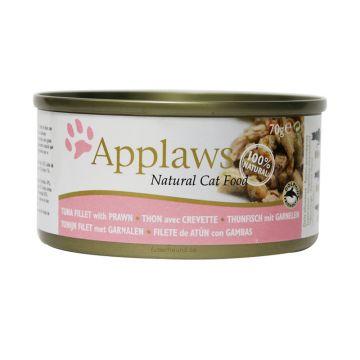 Applaws Cat Nassfutter Dose Thunfischfilets & Garnelen 156 g (Menge: 24 je Bestelleinheit)