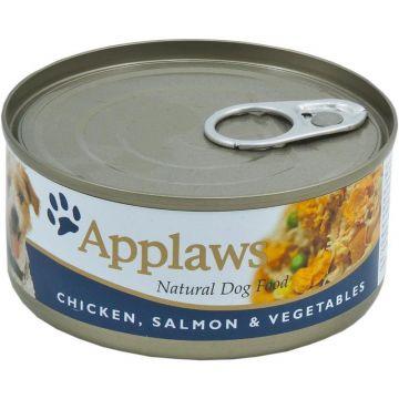 Applaws Dog Nassfutter Dose Huhn, Lachs & Gemüse 156 g (Menge: 12 je Bestelleinheit)