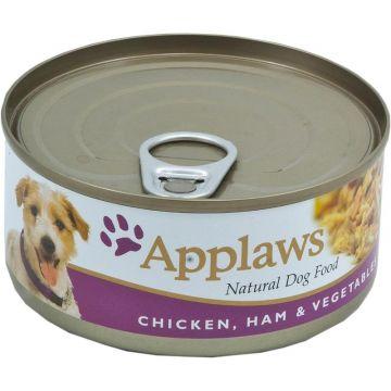 Applaws Dog Nassfutter Dose Huhn, Schinken & Gemüse 156 g  (Menge: 12 je Bestelleinheit)