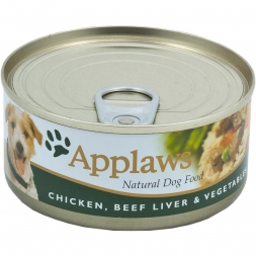 Applaws Dog Nassfutter Dose Huhn, Rinderleber & Gemüse 156 g (Menge: 12 je Bestelleinheit)