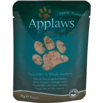 Applaws Cat Nassfutter in Portionsbeutel mit Thunfischfilets & ganze Sardellen 70 g (Menge: 12 je Bestelleinheit)