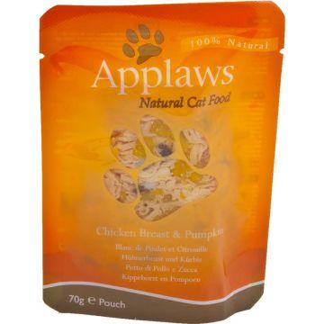 Applaws Cat Nassfutter in Portionsbeutel mit Hühnchenbrust & Kürbis 70 g (Menge: 12 je Bestelleinheit)