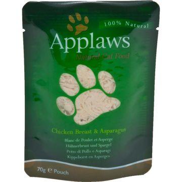 Applaws Cat Nassfutter in Portionsbeutel mit Hühnchenbrust & Spargel 70 g (Menge: 12 je Bestelleinheit)