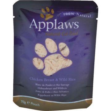 Applaws Cat Nassfutter in Portionsbeutel mit Hühnchenbrust & Wildreis 70 g (Menge: 12 je Bestelleinheit)
