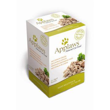 Applaws Cat Nassfutter Portionsbeutel Multipack mit Fleisch 5 x 50g