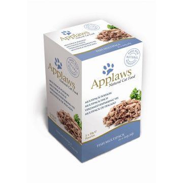 Applaws Cat Nassfutter Portionsbeutel Multipack mit Fisch 5 x 50g