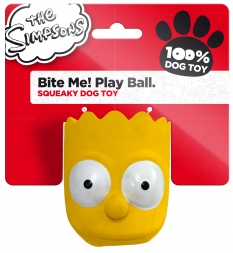 The Simpsons Latex Bite Me! Play Ball Bart