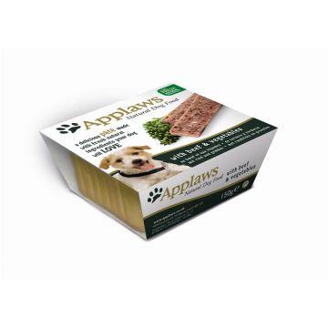 Applaws Dog Nassfutter Schale Pate mit Rind & Gemüse 150 g (Menge: 7 je Bestelleinheit)