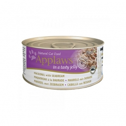 Applaws Cat Nassfutter Dose Makrele & Dorade in Gelee 70 g (Menge: 24 je Bestelleinheit)