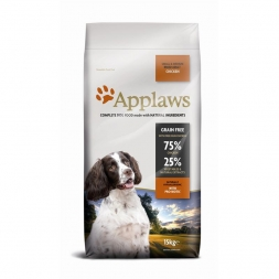 Applaws Dog Trockenfutter Adult Small & Medium Breed mit Huhn 15 kg