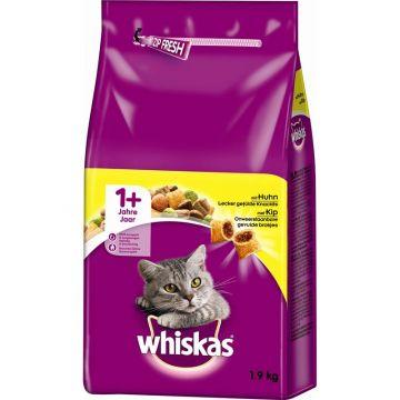 Whiskas Trocken Adult 1+ mit Huhn 1,9kg