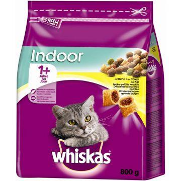 Whiskas Trocken Adult 1+ Indoor mit Huhn 800g