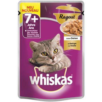 Whiskas Portionsbeutel 7+ mit Geflügel in Gelee 85g (Menge: 28 je Bestelleinheit)