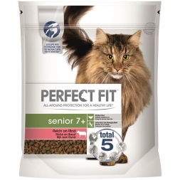Perfect Fit Cat Senior 7+ reich an Rind 750g