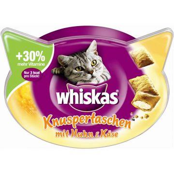 Whiskas Snack Knuspertaschen Huhn & Käse 60g (Menge: 8 je Bestelleinheit)