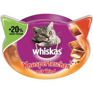 Whiskas Snack Knuspertaschen mit Rind 72g (Menge: 6 je Bestelleinheit)