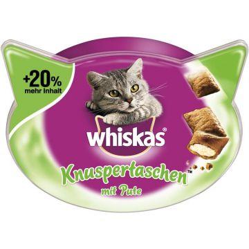 Whiskas Snack Knuspertaschen mit Pute 72g (Menge: 6 je Bestelleinheit)