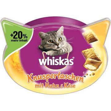 Whiskas Snack Knuspertaschen mit Huhn+Käse 72g (Menge: 6 je Bestelleinheit)