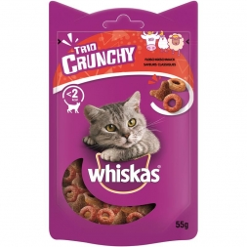 Whiskas Snack Trio-Crunchy Rind, Huhn, Lamm 55g (Menge: 6 je Bestelleinheit)