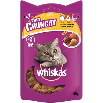 Whiskas Snack Trio-Crunchy Huhn, Pute, Ente 55g (Menge: 6 je Bestelleinheit)