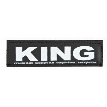 2 Julius-K9 Klettsticker KING