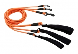 Hurtta Dazzle Seil-Leine orange, 120cm*8mm