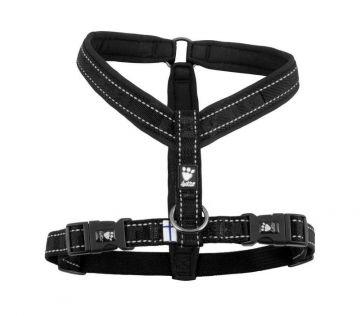 Hurtta Casual Y-Hundegeschirr schwarz, 45 cm