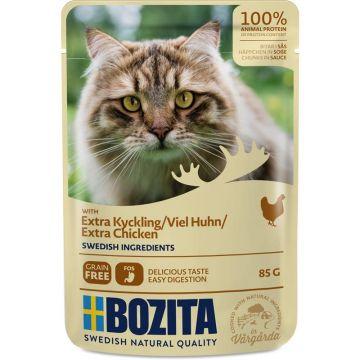 Bozita Pouch Häppchen in Soße mit viel Hühnchen 85g (Menge: 12 je Bestelleinheit)
