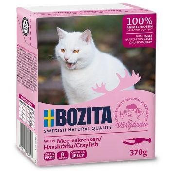 Bozita Cat Tetra Recard Häppchen in Gelee Meereskrabben 370g (Menge: 16 je Bestelleinheit)