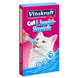 Vitakraft Cat Liquid Lachs & Omega3  6 x 15 g