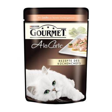 Gourmet Frischebeutel a la Carte Lachs an Gartengemüse 85g (Menge: 24 je Bestelleinheit)
