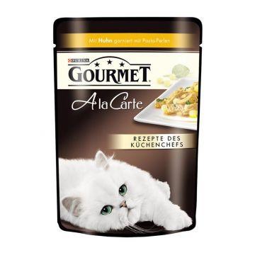 Gourmet Frischebeutel a la Carte Huhn mit Pasta-Perlen 85g (Menge: 24 je Bestelleinheit)