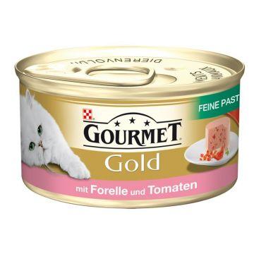 Gourmet Gold Feine Pastete mit Forelle & Tomaten 85g (Menge: 12 je Bestelleinheit)