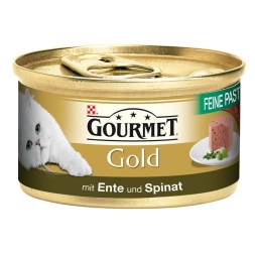 Gourmet Gold Feine Pastete Ente & Spinat 85g (Menge: 12 je Bestelleinheit)