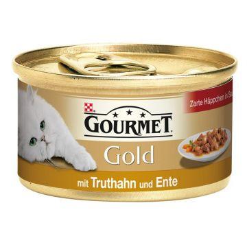 Gourmet Gold HiS Truthahn & Ente 85g (Menge: 12 je Bestelleinheit)